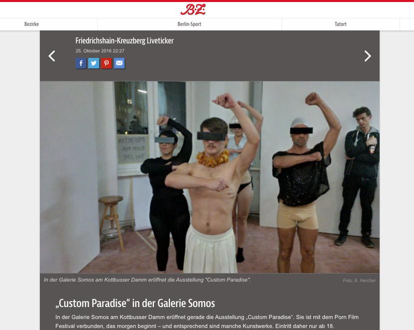 Custom Paradise in Berliner Zeitung