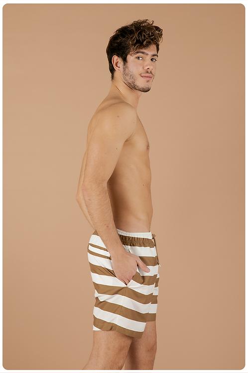 Boxer fantasia sailorman bianco e cammello