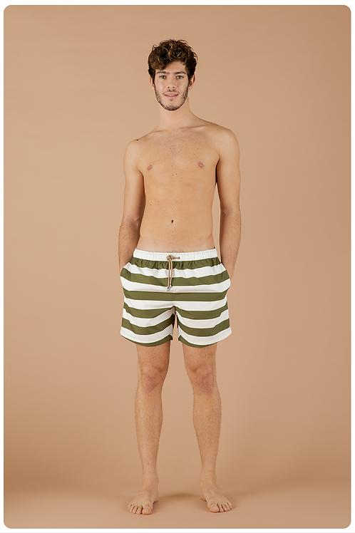 Boxer fantasia sailorman bianco e verde militare