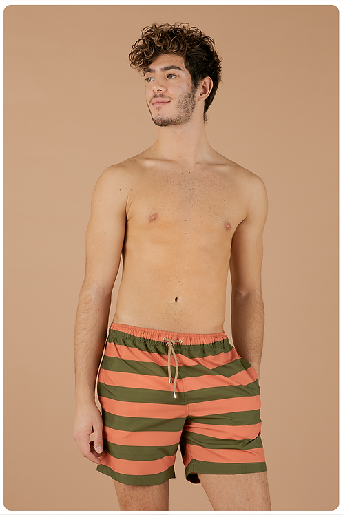 Boxer fantasia sailorman verde militare e arancio
