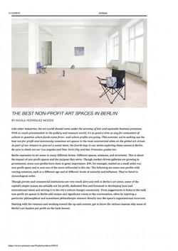 ArtSlant Best Berlin Art Spaces
