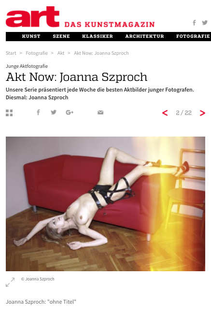 Joanna Szproch in Art Magazin