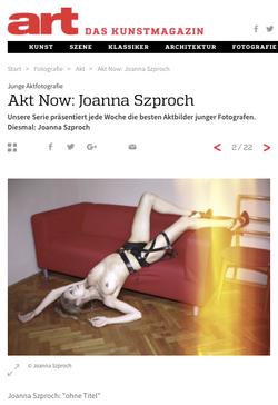 Joanna Szproch in Art Magazin