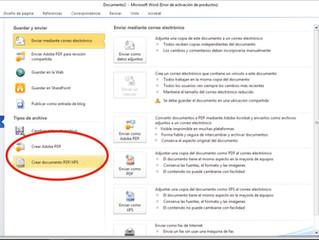 Cómo generar un PDF desde el Word, Excel o Power Point. - Scopy - Fotocopias en Galapagar