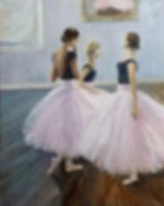 Three Dancers 20x16 oil on linen