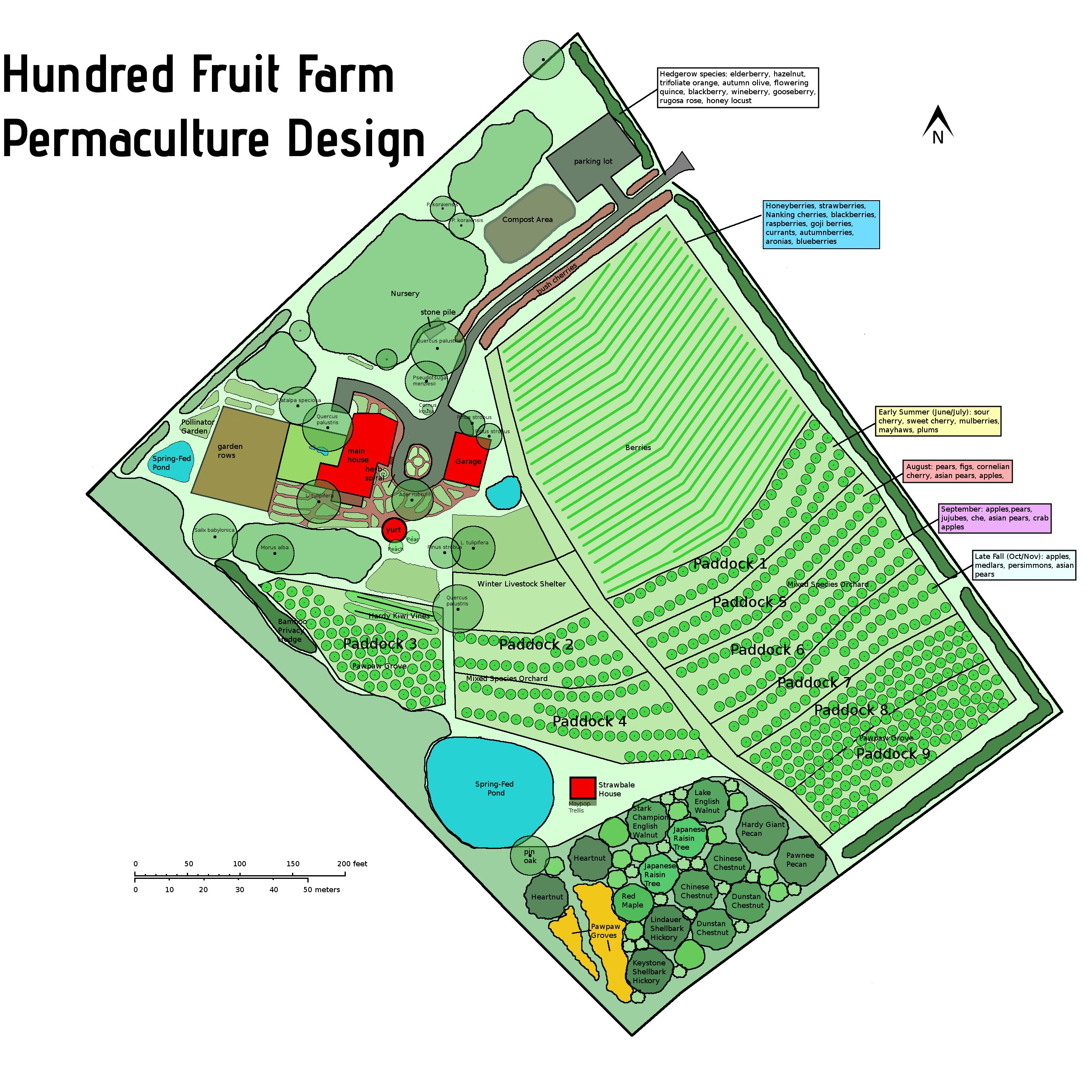 Old Design for Hundred Fruit Farm
