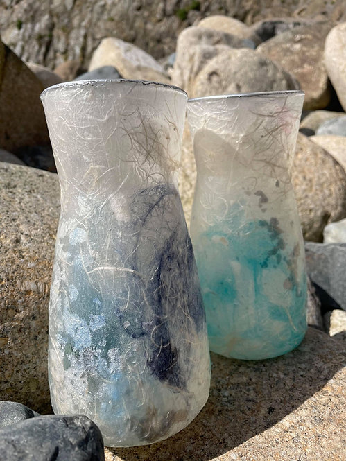 Vase- Silk Fibre Glass