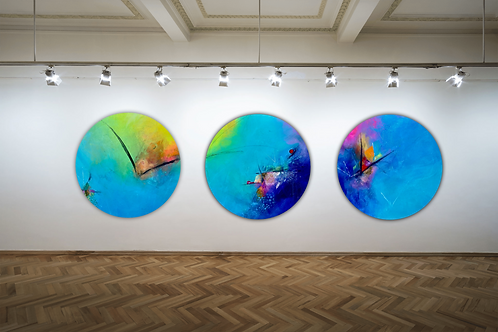 The Migration Triptych- Special Edition Signed Framed Circle Prints