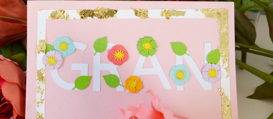 Floral Card using FREE designs in Cricut Design Space!