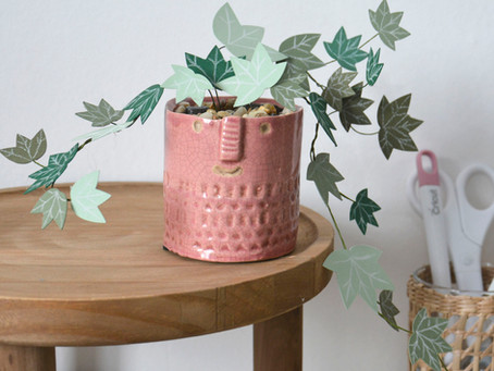 Make your own paper Ivy plant with free shapes in Cricut Design Space
