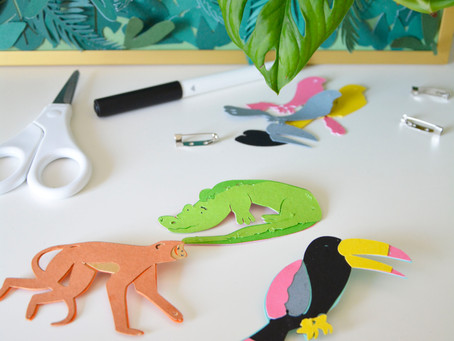Kids animal badges project using FREE Cricut Designs
