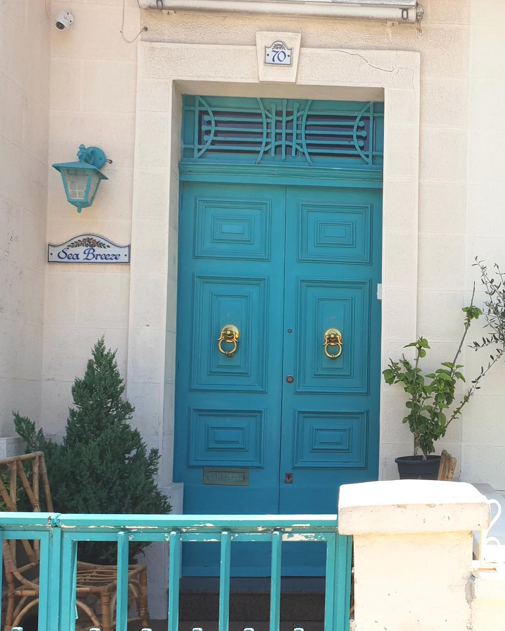 Malta holiday turquoise door