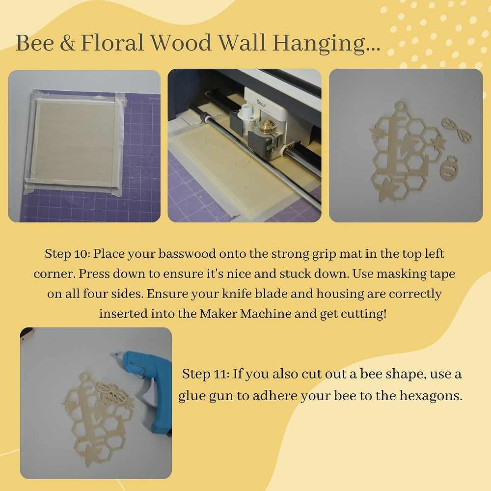 Step by step instructions on how to correctly use your Cricut Maker Machine, knife blade and basswood.