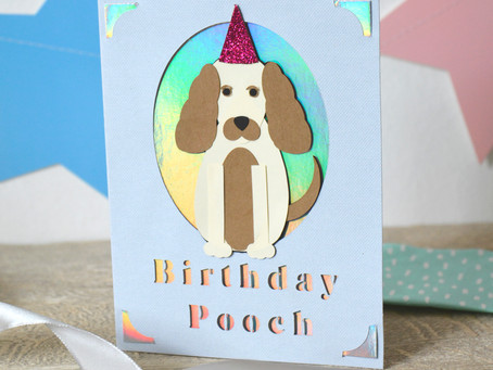 How to Make a Dog Birthday card with free Cricut shapes!