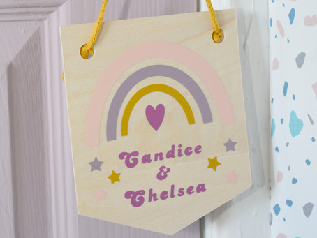 How to make a rainbow banner using free shapes in Cricut Design Space