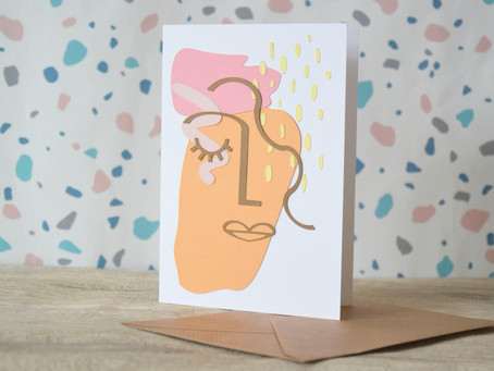 How to make this trending Abstract Face card!