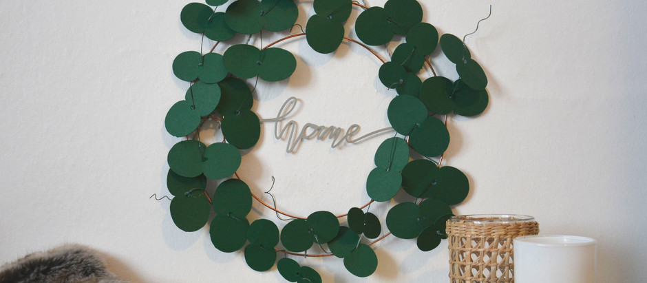 How to make your own Eucalyptus leaf wreath with free shapes in Cricut Design Space