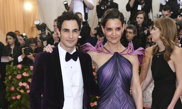 Zac Posen with Katie Holmes at a New York gala in May. Photograph: Charles Sykes
