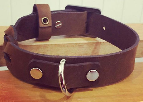 From one of the private workshop, Mish designed and made this dog collar. Workshop available upon re