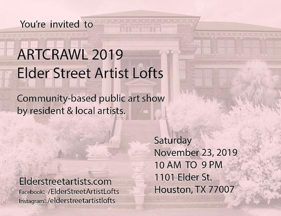 Artcrawl 2019,                          Downtown Houston, TX