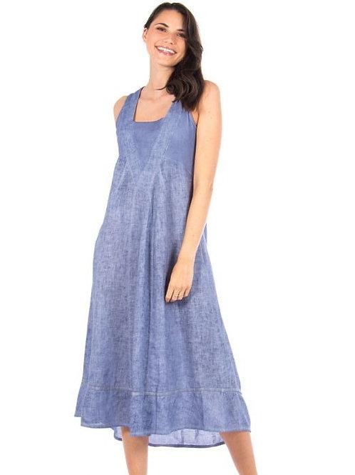 Carre Noir Indigo Linen Dress