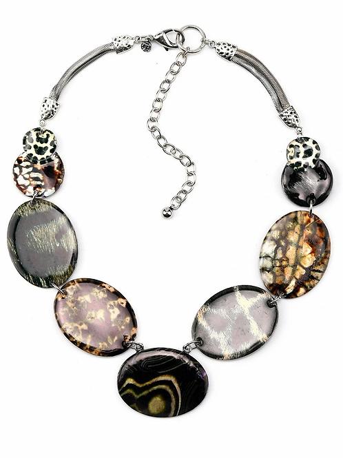 Nature- Inspired Enamel Necklace