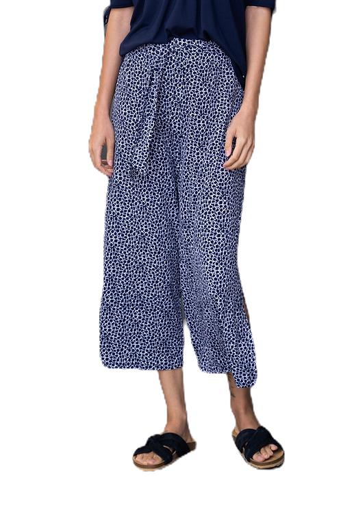 Marble of Scotland Navy & White Print Culottes
