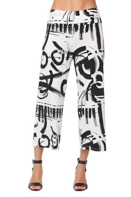Compli-K Graffiti Print Jersey Cropped Pant