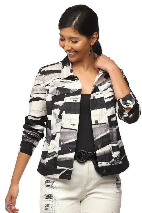 "Claire desjardins ""Urban Minute"" Linen Jean-Style Jacket"