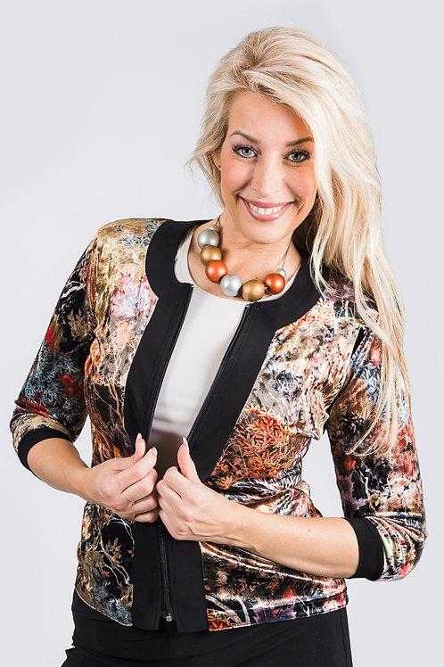 Gold Leaf Velvet Sarasota Jacket
