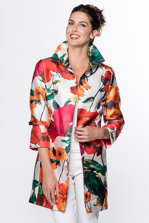 Red Mix Floral Duster