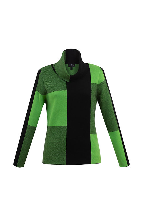Marble of Scotland Kelly Green Plaid Sweater