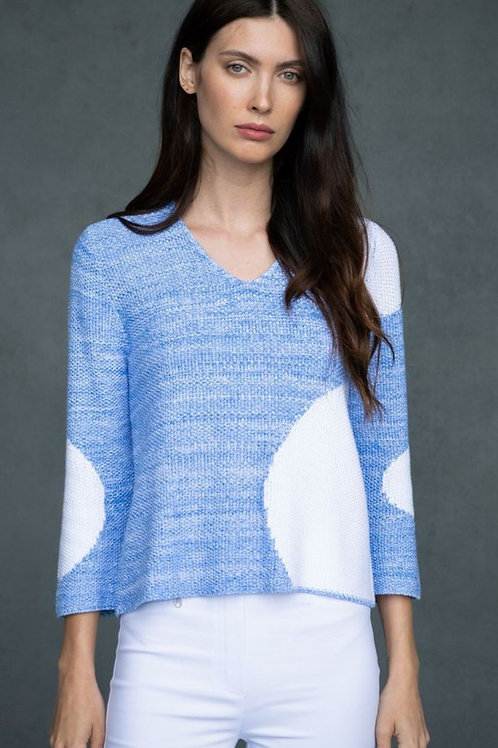 """Marble of Scotland Sky Blue """"Circles"""" Sweater"""