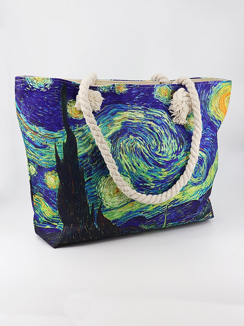 """Gallery Collection """"Starry Night"""" Tote Bag"""