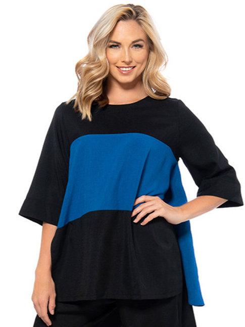 Black & Blue Colour Blocked Tunic