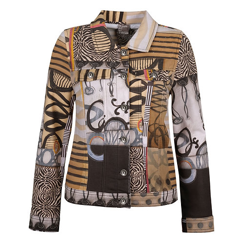 """""""Poetic Metaphore"""" Jean-Style Jacket by Dolcezza 70650"""