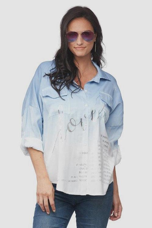 "Carre Noir Shimmery ""Love"" Shirt"