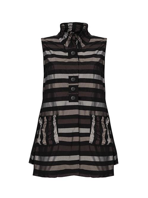 Taffeta Stripe A-Line Vest