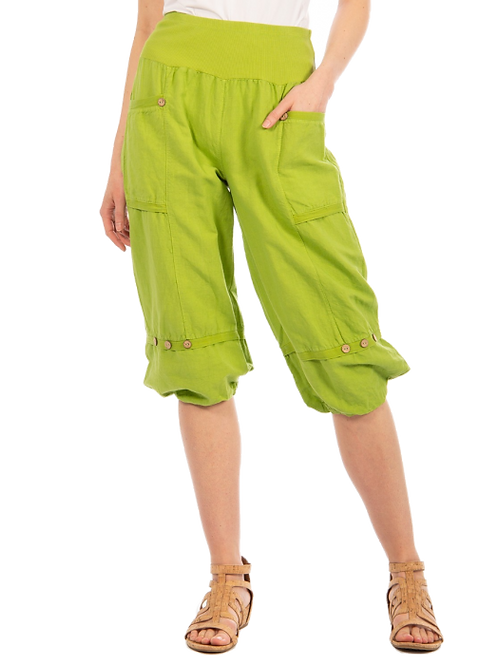 Carre Noir Lime Green Clam-Diggers