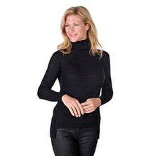 Spanner Rib Knit Turtleneck Sweater