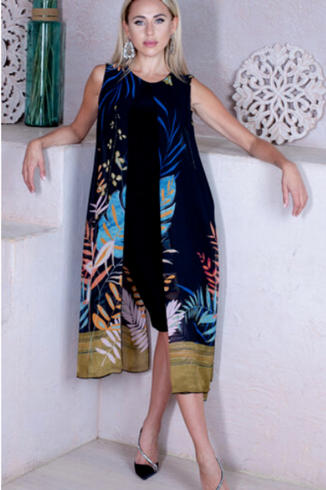 """""""Topical Midnight"""" Dress by Artex"""