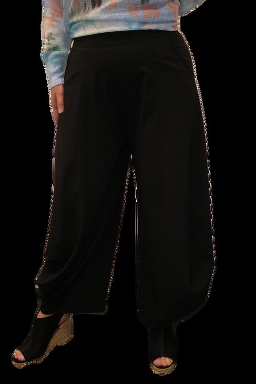 Ever Sassy Black Silky Lantern Pants