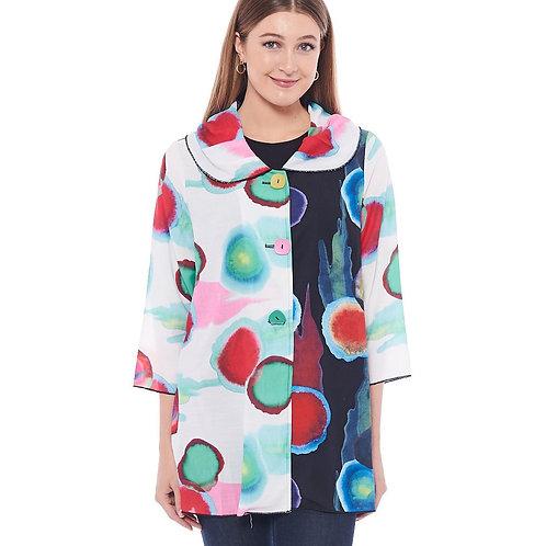 Miss Nikky Watercolour Circles Shirt Jacket