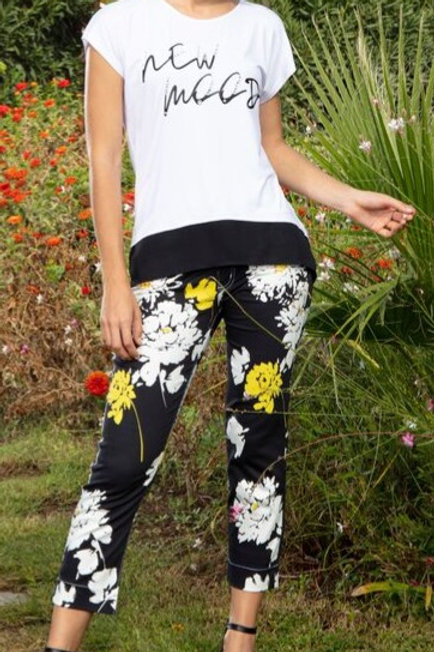 Summer Bloom Cropped Pants