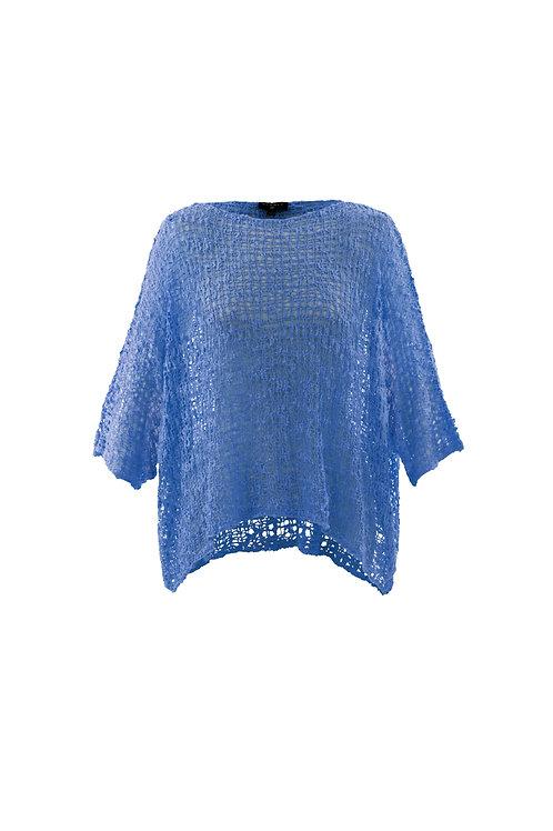 Sky Blue Crochet One Size Sweater