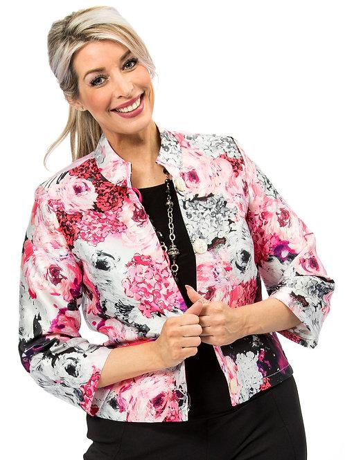 Pink Hydrangea Nehru Jacket