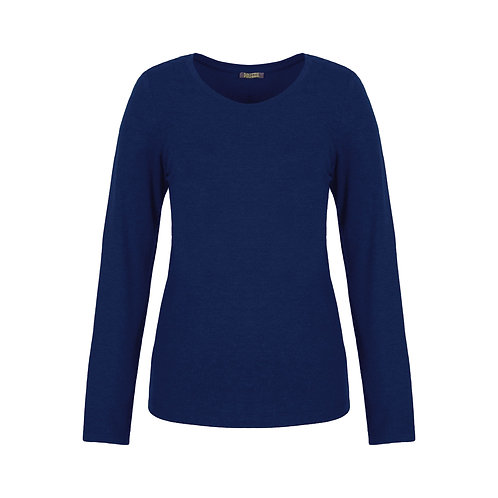 Dolcezza Royal Blue Soft Touch Long Sleeve Crewneck Tee 70550