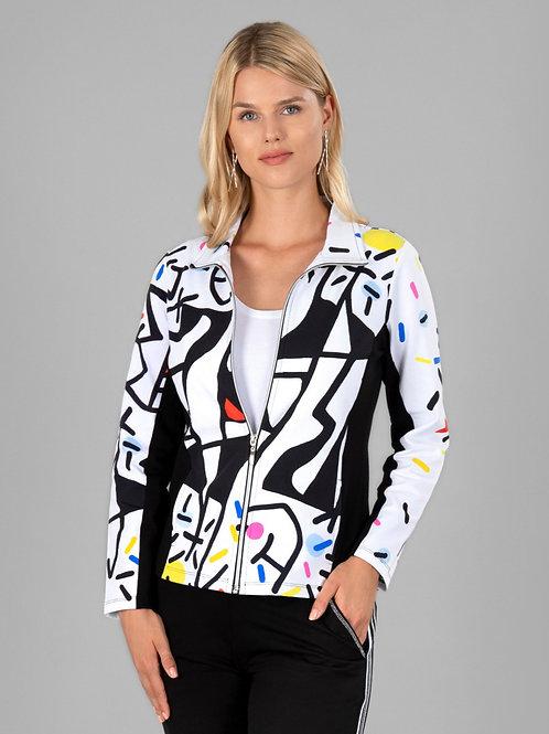 """Dolcezza """"Naissance de L'Origine"""" Zip Front Yoga jacket"""