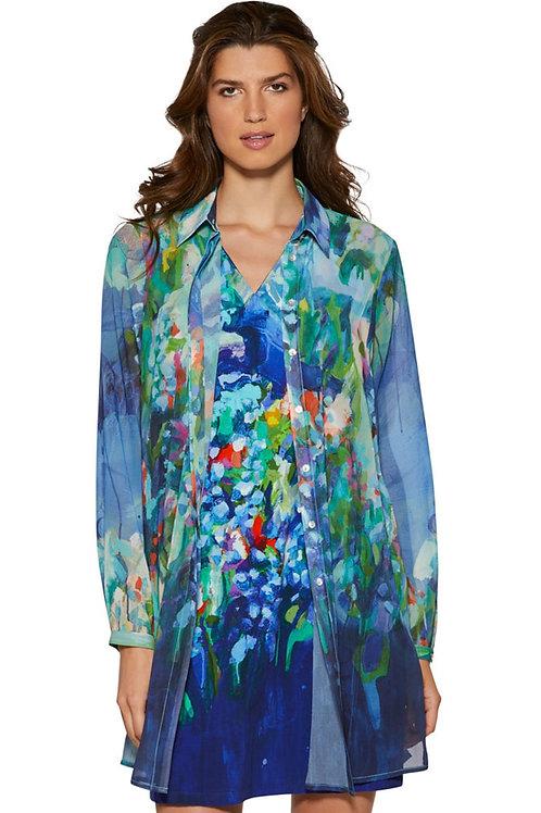 """Full Bloom"" Long Chiffon Shirt"