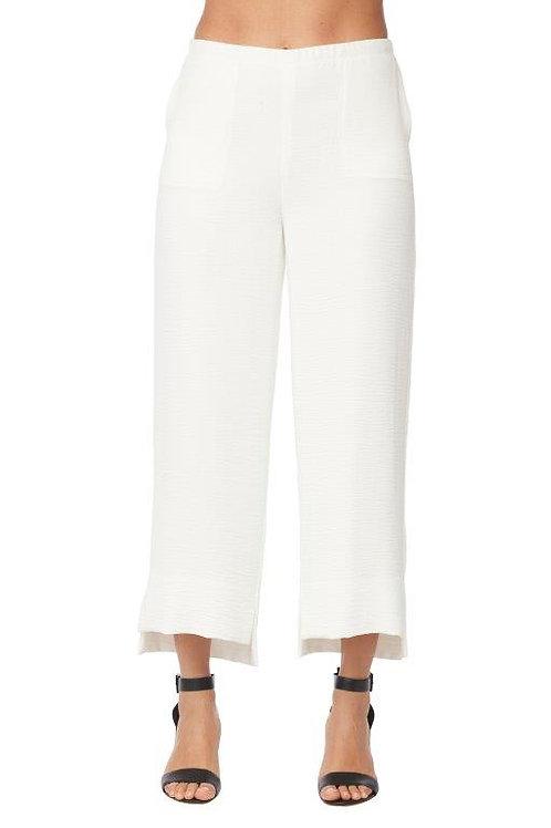 Compli-K Ivory Hi-Low Hem Pants